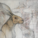 'Hares and Foxes (iv) by Sylvia Parkinson Brown at the Chimera gallery, Mullingar, Co Westmeath, Ireland