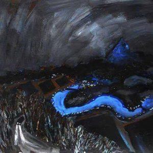 'Blue River' Oil on Paste Board 80x60 cm€800
