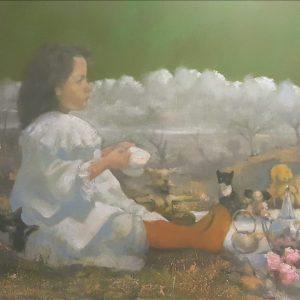 'Tea Party' Oil on Canvas 100x80 cm €4800