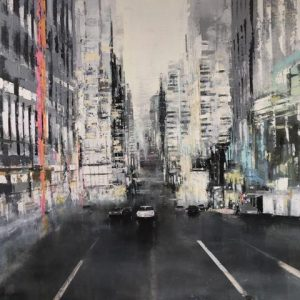 'Silver New York'(3) Oil on Canvas 60x60 cm