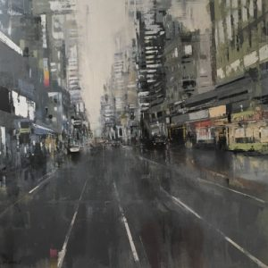 'Grey New York'(1) Oil on Canvas 60x60cm
