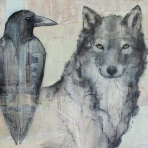 'Crow and Wolf' by Sylvia Parkinson Brown €850
