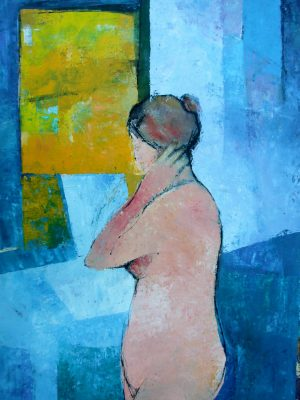 'Bather in Blue' Oil on Card 80x60 cm €1500