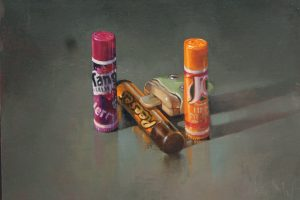 'Chapsticks' Oil on Board 30x25 €750