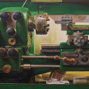 'Ron Jarvis's Lathe' Oil on Canvas 80x60cm €2800