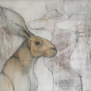 'Hare and Fox' by Sylvia Parkinson Brown' €850