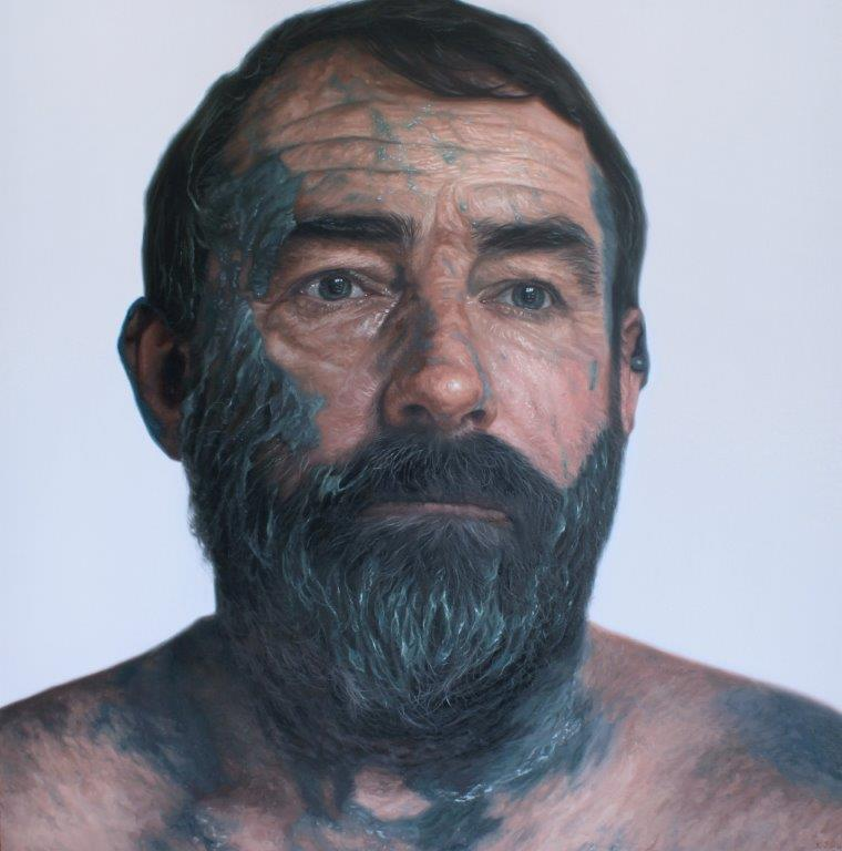 'Sergeant Dave O'Shea' Oil on Canvas 140x140cm