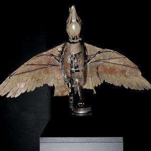 'Goose in Flight' Scrap Metal 50x50 cm €1500