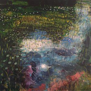"""Lake Light"" 100x120 cm , Oil on Canvas, €3200"