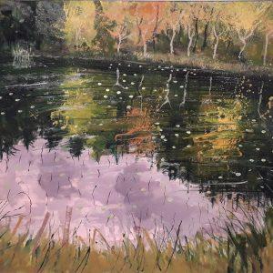 Priest's Lake 120x90 cm , Oil on Canvas €2800
