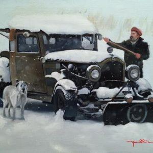 'Snow Plough' Oil on Linen 35x25 cm €1200