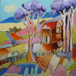 'Country Church' Oil on Board, 45x45 cm €600