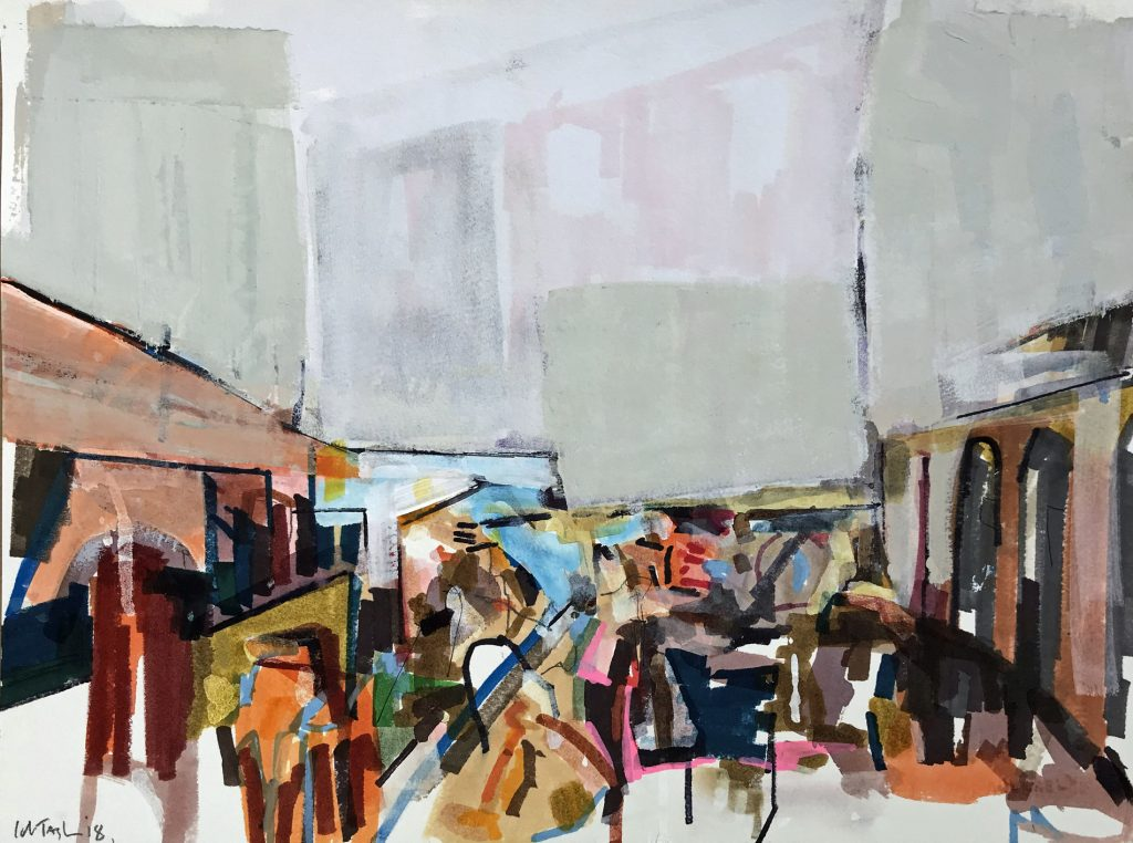 'Catania Fishmarket' 40x30 cm Mixed Media €650
