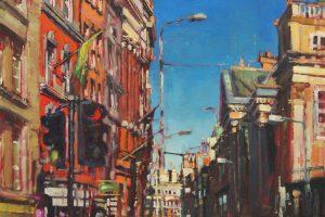 'Towards St Georges St, Dublin' Oil on Canvas 60x40cm €1800