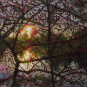 'Emergence' 46x46 cm Oil on Aluminium €2800