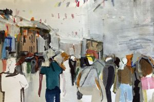 'Galway Crowdscape' 40x30 cm Mixed Media €650