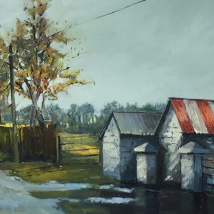 'The Old Sheds' Oil on Canvas 100x50cm €1750