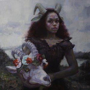 'Kindred' ,80x80 cm, Oil on Aluminium €5600