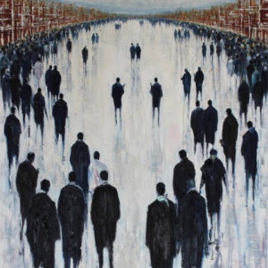 'The Meeting Point' Oil on Canvas 100x76cm €1500