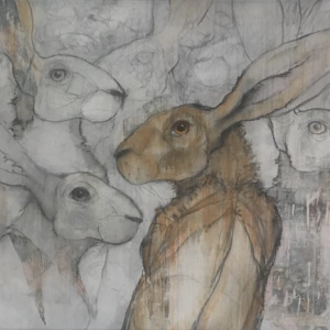 'Hares before and After' by Sylvia Parkinson Brown' €950