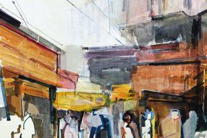 'Shimla' (ii) 40x30 cm Mixed Media €650