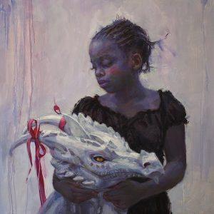 'Tamed Beast' 80x80 cm, Oil on Aluminium €5600
