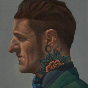 'Georgie Ramone' Oil on Canvas 30x25cm