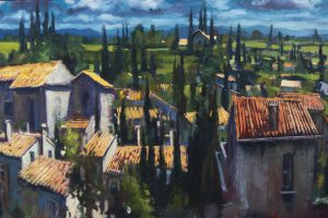 'Carcossonne' Oil on Canvas 60x40 cm €1800