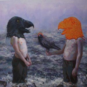 'Temptation' 80x80 cm , Oil on Aluminium