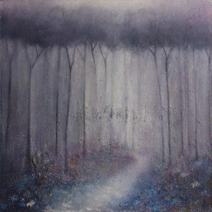 'Bluebell Wood' 80x80 cm €975