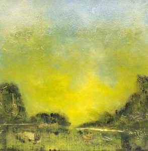 'Fresh Line' by Holder Baehr, 40x40 cm Acrylic on cANVAS