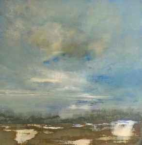 'Light Breaking Thru' By Holger Baehr, 100x100cm , Acrylic on Canvas