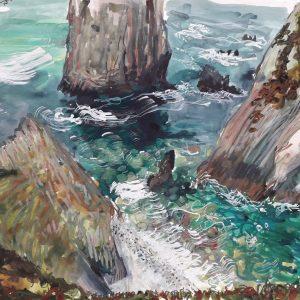 'Atlantic Cove' Watercolour, 42x60 cm,  €1200