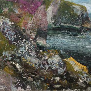 'Wild Shore Donegal' Oil on Board, 100x80cm, €2800