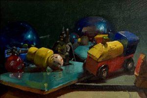 'Toy Box' 30x20 cm Oil on Board €600