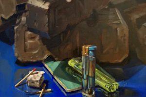'Fire' 35x25 cm Oil on Board €850