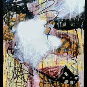 'Dancing by the Embankment' 115x89 cm Mixed Media on Canvas €2500