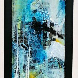 'Spray' 64x38cm Mixed Media on Canvas €660
