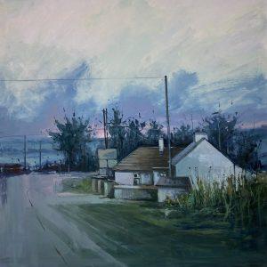 'Journeys on a misty Morning' 80x80 cm Oil on Canvas €2400